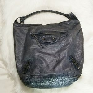 Balenciaga Anthracite Lambskin Day Bag